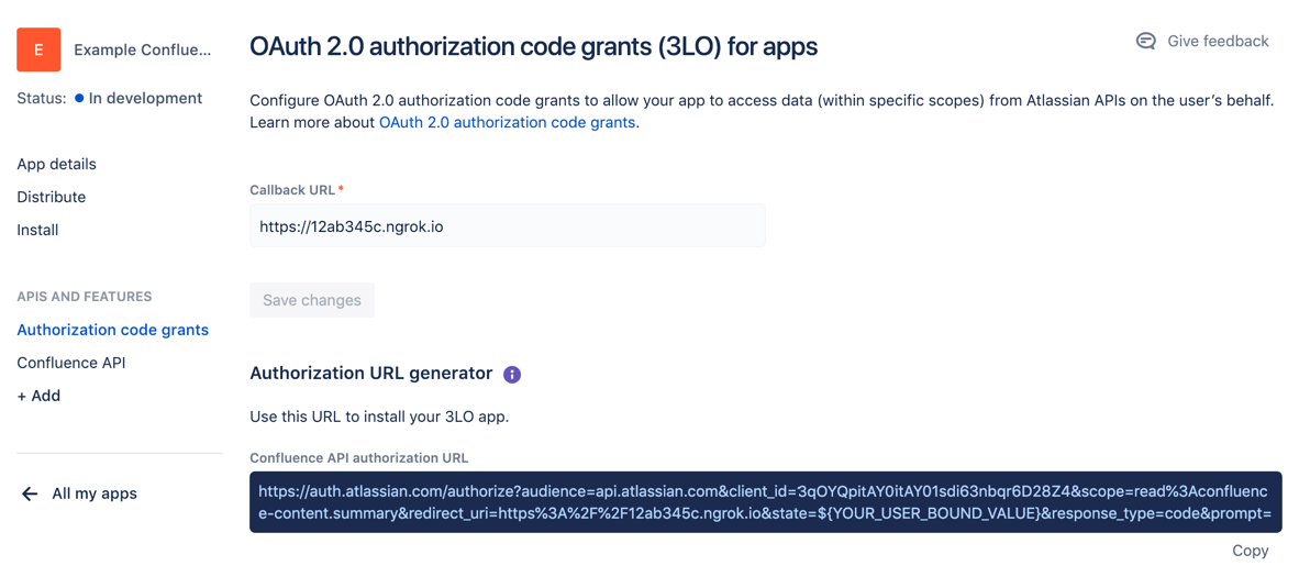 OAuth 2 0 (3LO) for apps