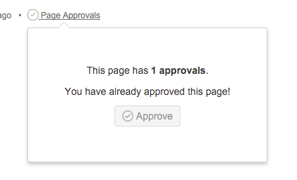 page approvals