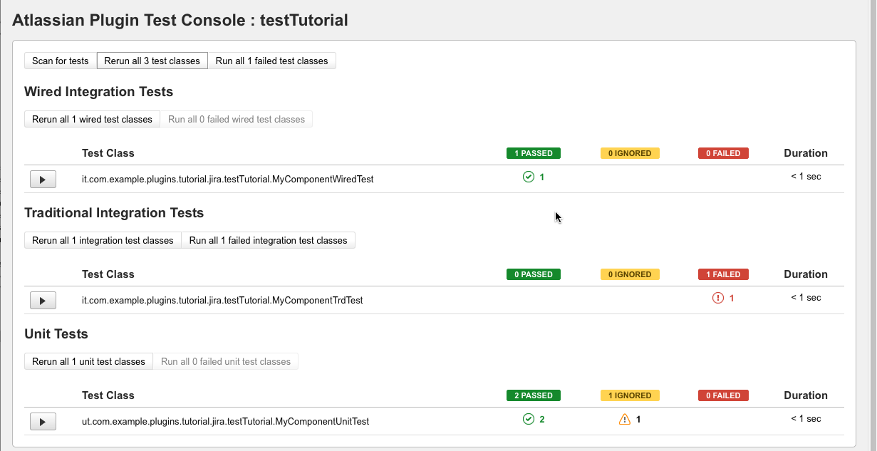 Run Wired Tests with the Plugin Test Console