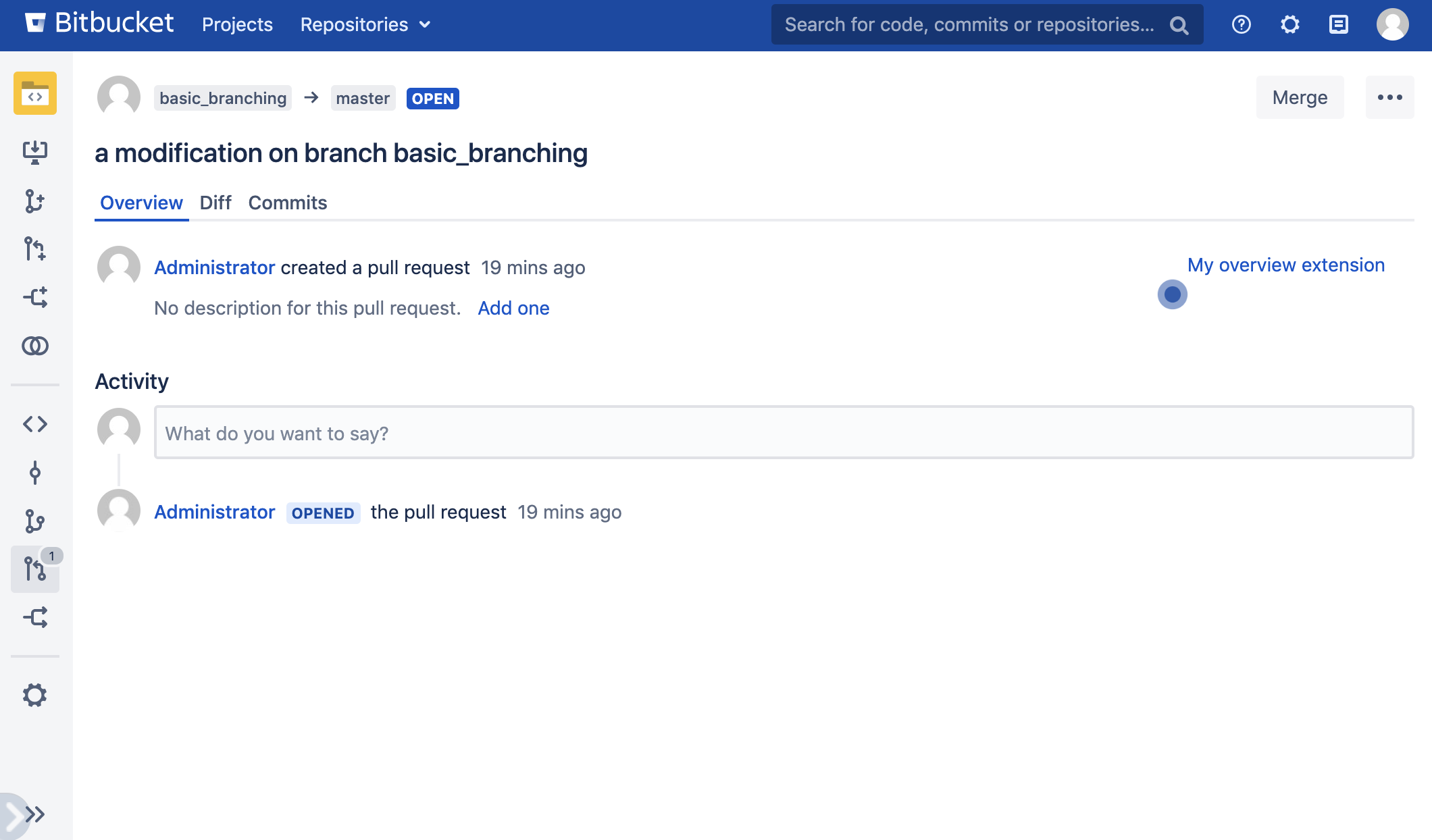 Pull Request screenshot with discovery extension points revealed