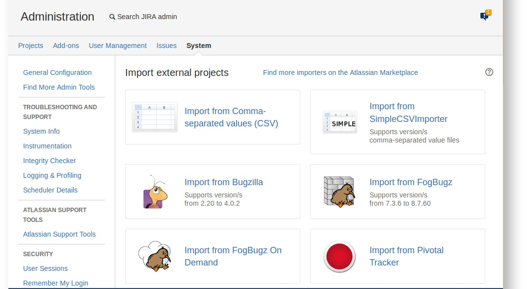 Writing a custom importer using the JIRA importers add-on