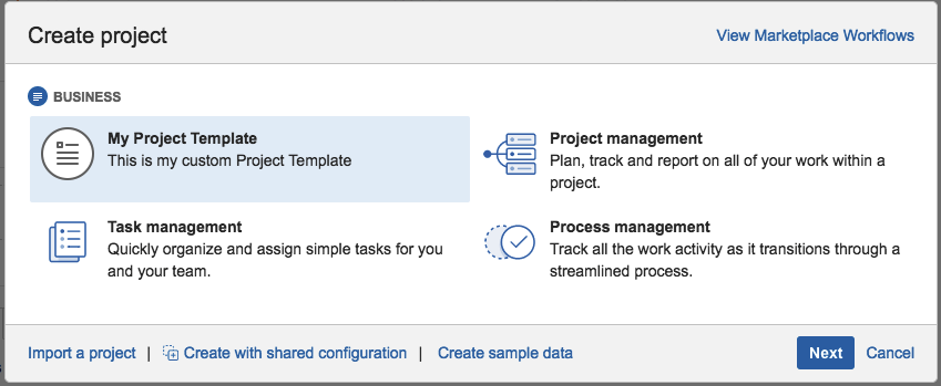 Creating a project template create a new project based on the my project template template this is the template you created wajeb Choice Image