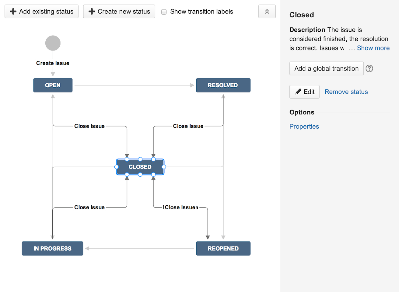 implementing the jira workflow designer